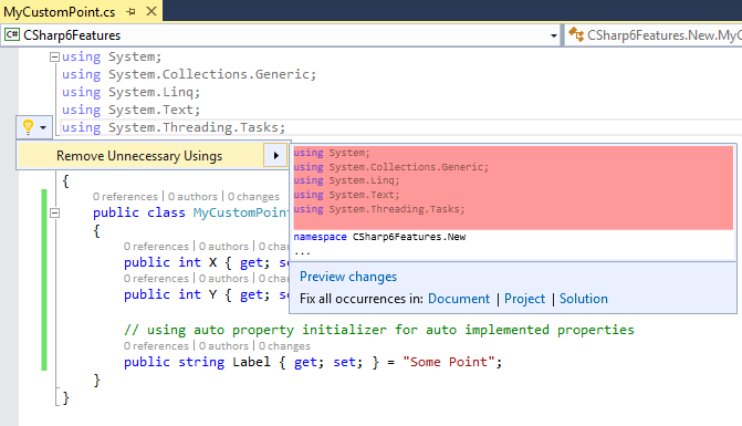 VS 2015 – C# 6 and new IDE Features Image